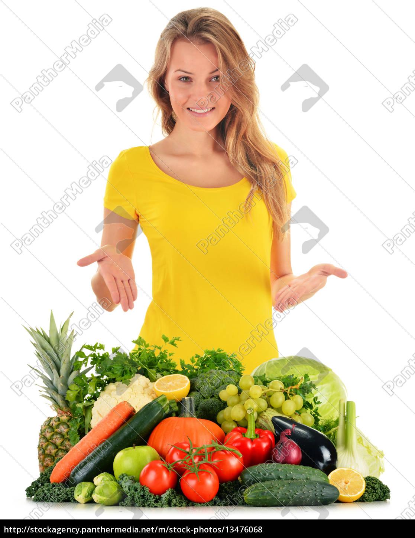 ausgewogene, ernährung, basierend, auf, rohem, bio-gemüse - 13476068