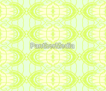 endless spring abstract squiggly pale green