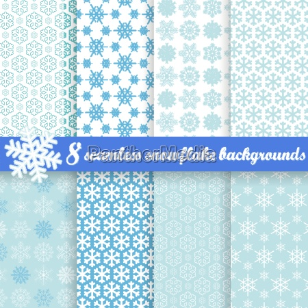 collection of seamless snowflake backgrounds