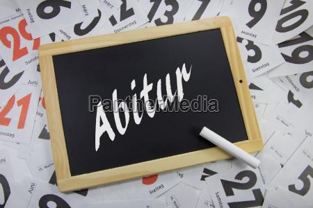 abiturauf eine tafel geschrieben