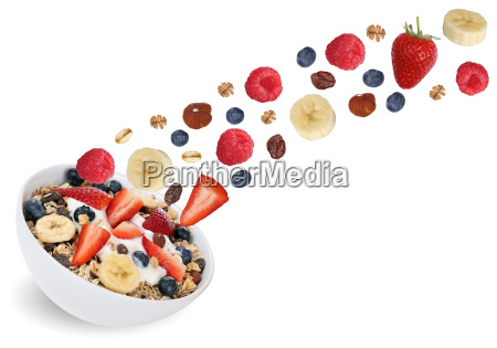 flying fruit cereal for breakfast with