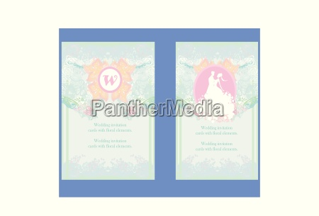 hochzeits einladungskarten mit floralen elementen
