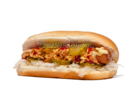 hotdoghot dog vor weiss