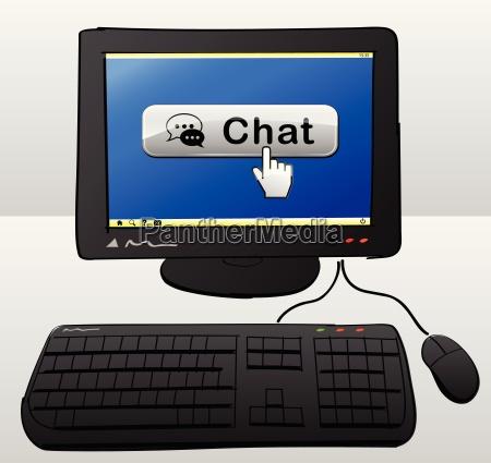 chat computer konzept