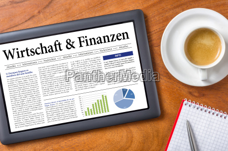 tablet on desk business and