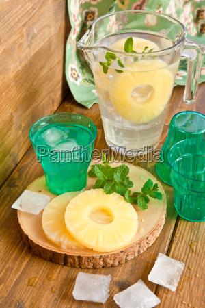 homemade lemonade with pineapple