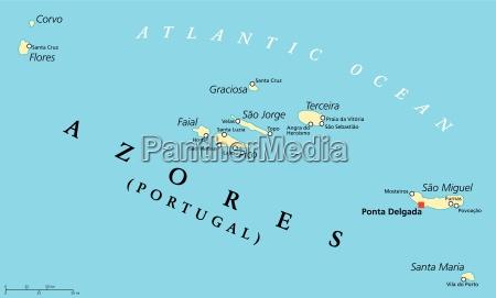 azoren politische karte