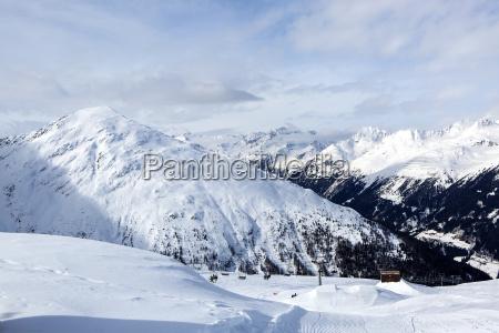 berglandschaft in den oesterreichischen alpen