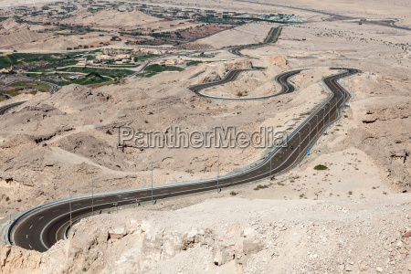 jebel hafeet mountain road in the
