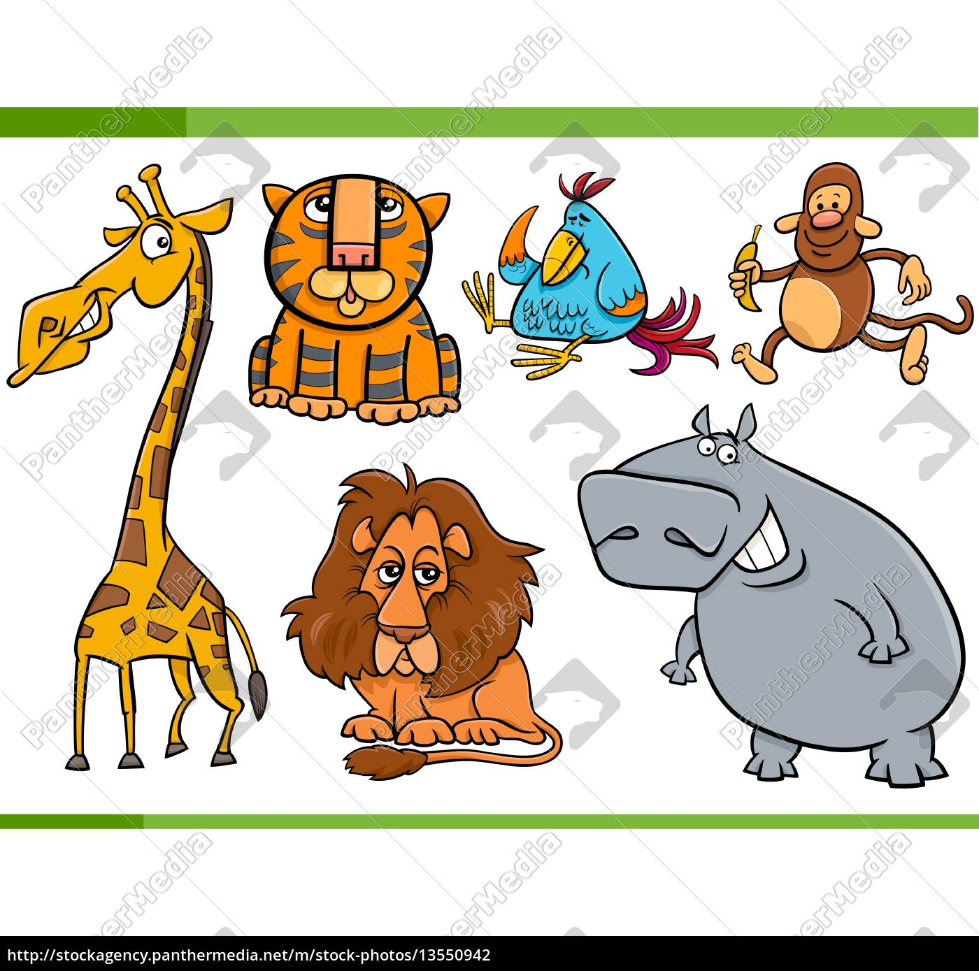 tiere, cartoon-figuren, set - 13550942