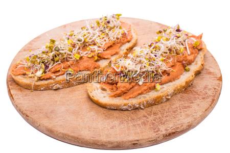 bread with vegan spread