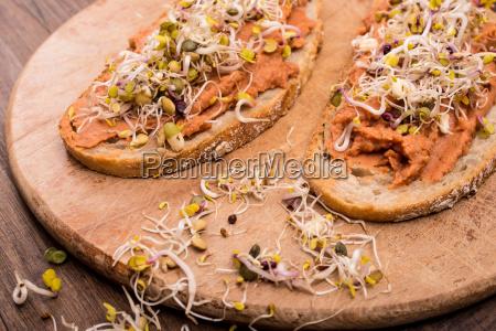 bread with bread spread vegan