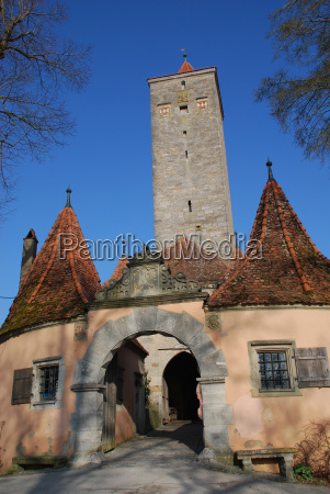 burgtorturm town of rothenburg ob der