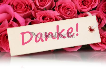 danke mit rosen blumen zum muttertag