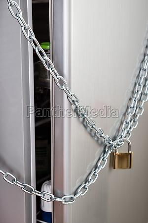 locked refrigerator