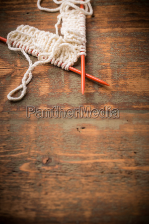 white knitting wool