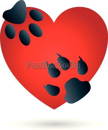 logo heart cat dog