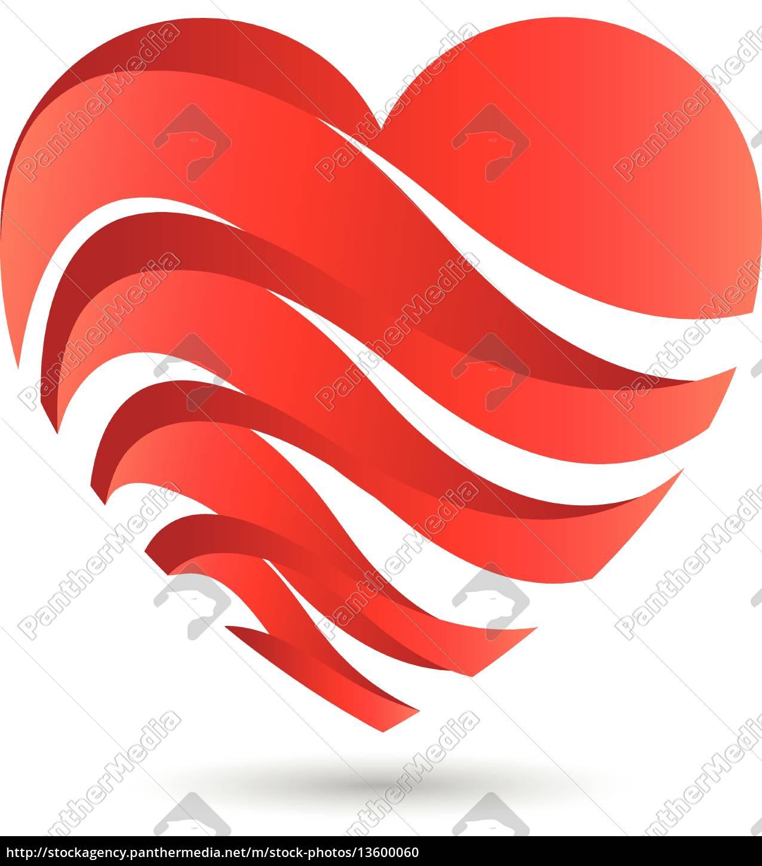 Logo herz herzchen wellen lizenzfreies foto 13600060 bildagentur panthermedia - Herzchen bilder ...