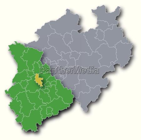 nrw map city dusseldorf
