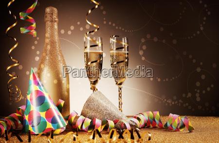 festivity concept party hat wines