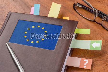 terminkalender mit der flagge der eu