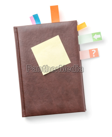 schedule with lots of sticky notes
