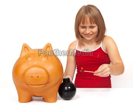explodieren das sparschwein