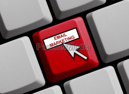 computer keyboard email marketing