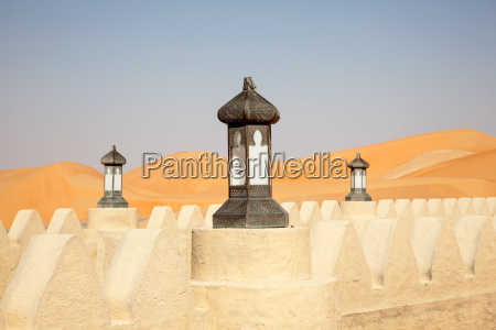 traditional arabian style lamp in a