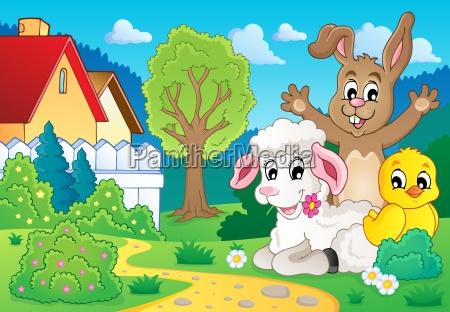 spring animals theme image 2