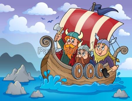 wikingerschiff thema bild 2