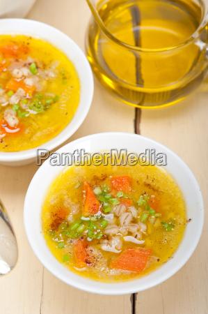 syrian barley broth soup aleppo style