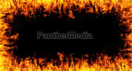 zusammenfassung feuer rahmen auf schwarzem backgroudn