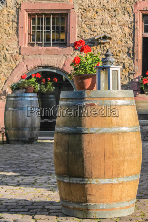 large wooden barrels at a winery