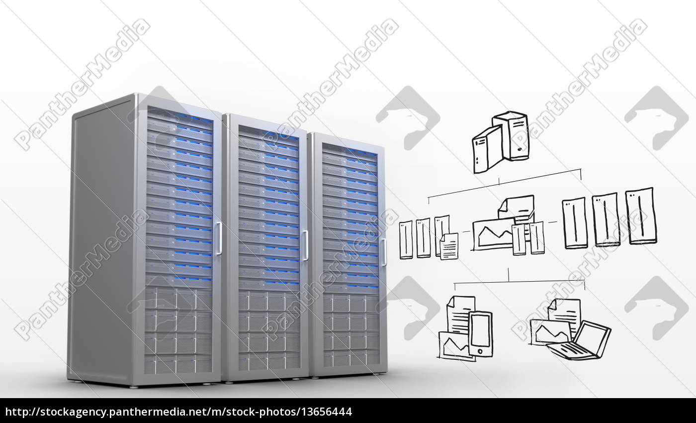 zusammengesetztes, bild, von, cloud, computing, doodle - 13656444
