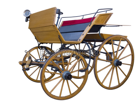 open horse drawn carriage middle position