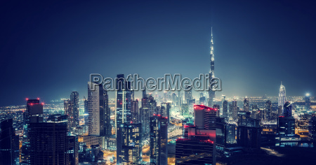 beautiful dubai cityscape