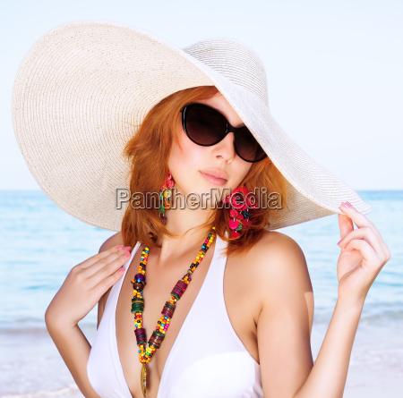 beautiful female on the beach