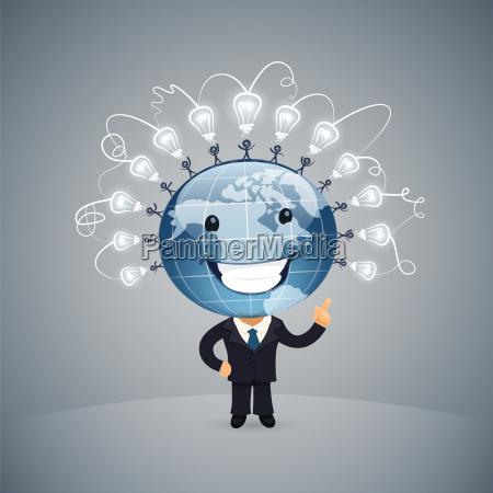 idea globale illustrazione vettoriale