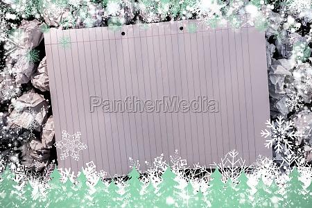 zusammengesetztes bild des schneerahmens