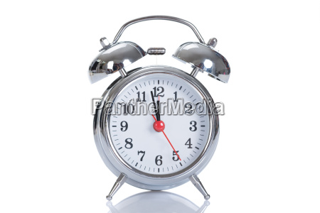 alarmclock over white background