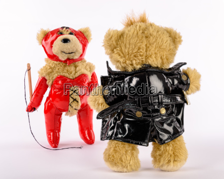fetisch teddys domina mit peitsche und