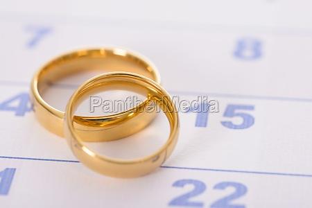 rings on calendar