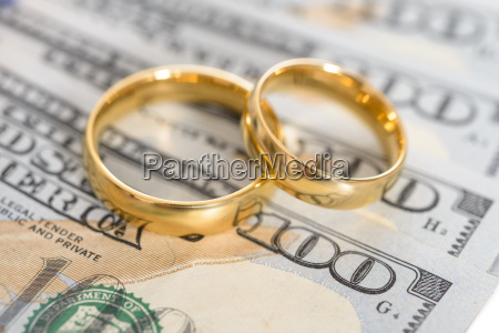 wedding rings on us dollar