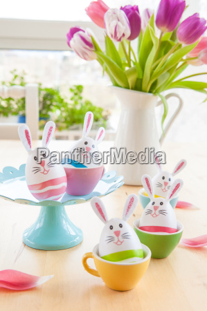 colorfully decorated easter eggs