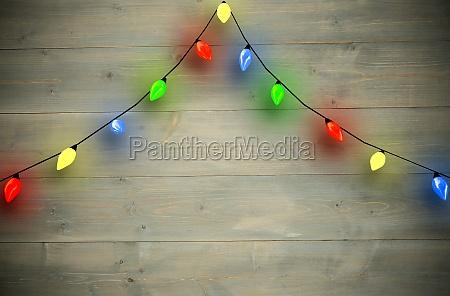 zusammengesetztes bild der bogenform der weihnachtslichter
