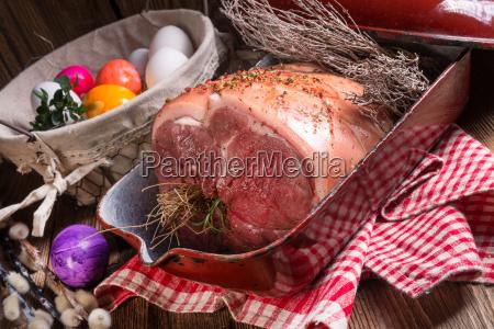 raw easter roast crisp and