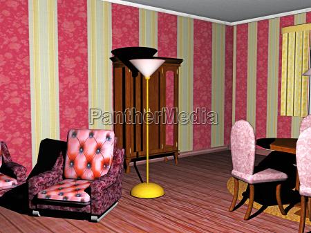 altmodisches wohnzimmer