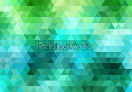 blue and green triangle background