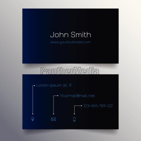 business card template modern blue